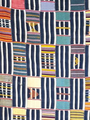 Ewe Kente textile from the Volta region in Ghana
